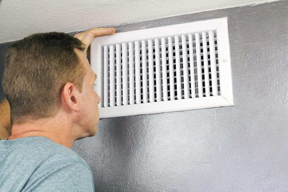 checking air vents